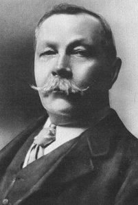 Sir Arthur Conan Doyle and Hairy Friend
